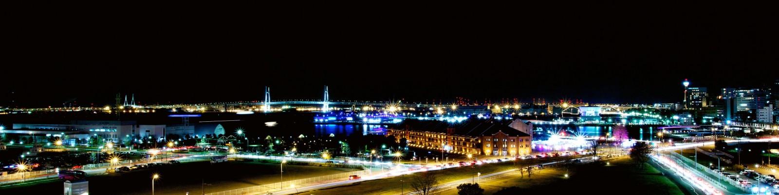 横浜(みなとみらい)の夜景