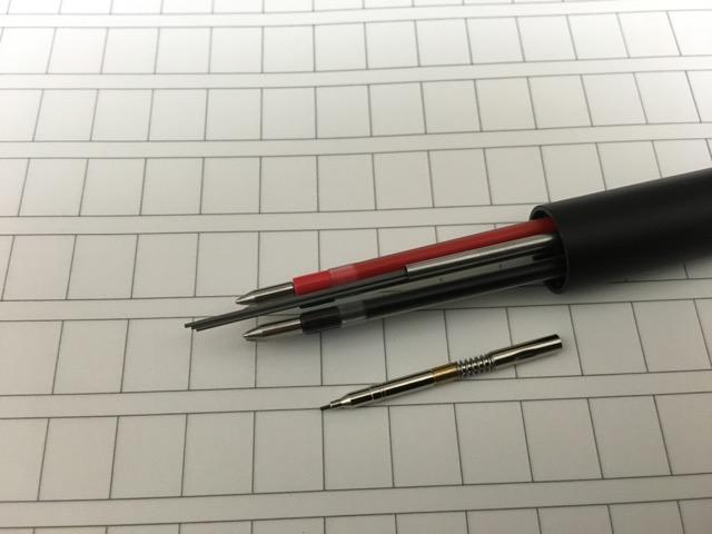 ジェットストリーム4&1にシャー芯を補充