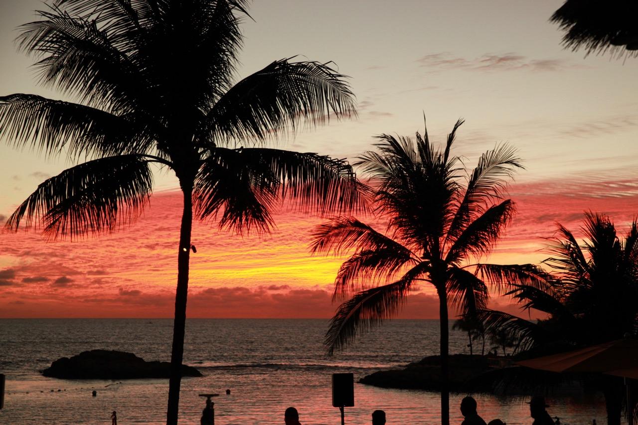 アウラニディズニーリゾートから見る夕日2