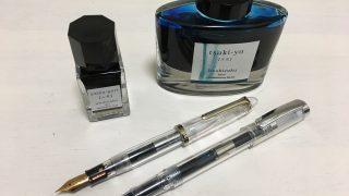 カキモリで購入した万年筆とローラーボールペンにインクを注入。どちらも素晴らしい書き味です!