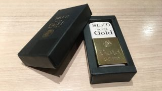 天然ゴムで作られた贅沢で懐かしい消しゴム。【SEED SUPER GOLD HIGH CLASS】