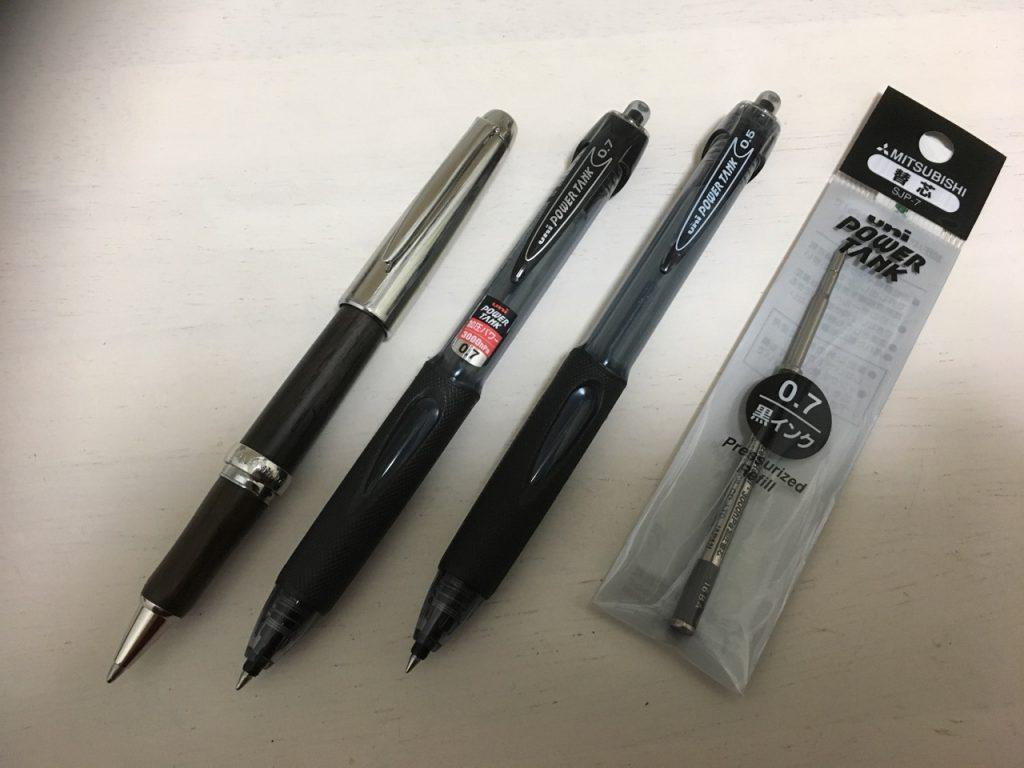 加圧ボールペン