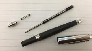 ピュアモルト加圧ボールペンのリフィル交換