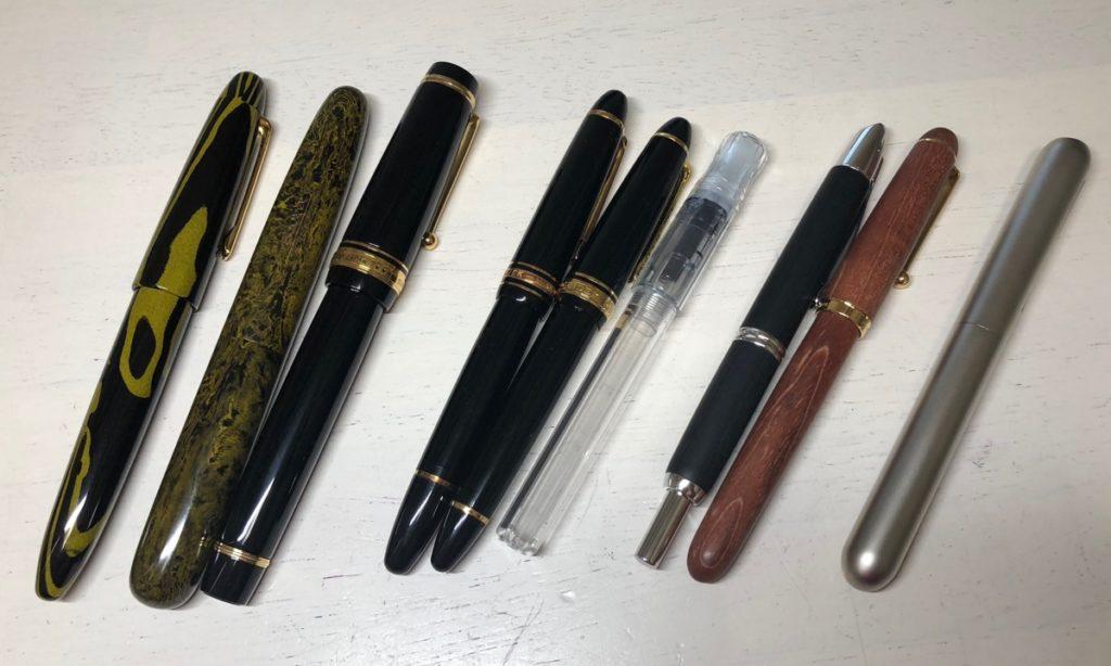 万年筆の軸の素材