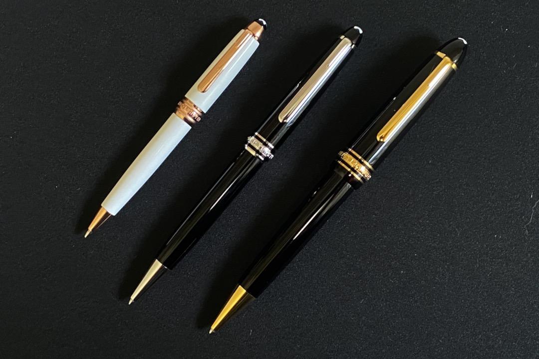 モンブランマイスターシュテュックボールペンのサイズ比較